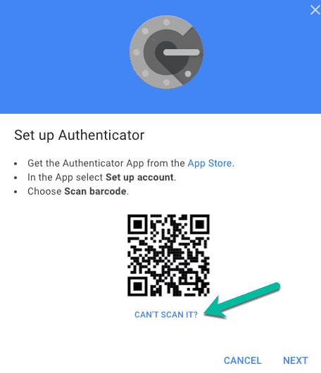 QR-code to transfer accounts on Google Authenticator